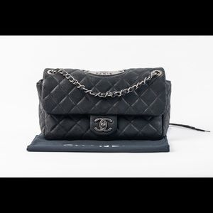 Handbags - CHANEL RARE Glazed Suede Classic Double Flap